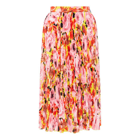 Floral Pleated Skirt, ${color}