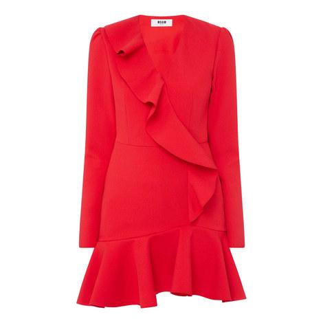 Double Crepe Cady Dress, ${color}