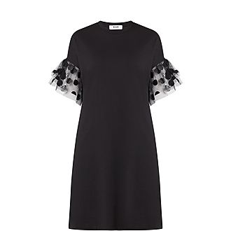Mesh Sleeve Dress