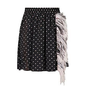 Feather Dot Print Skirt