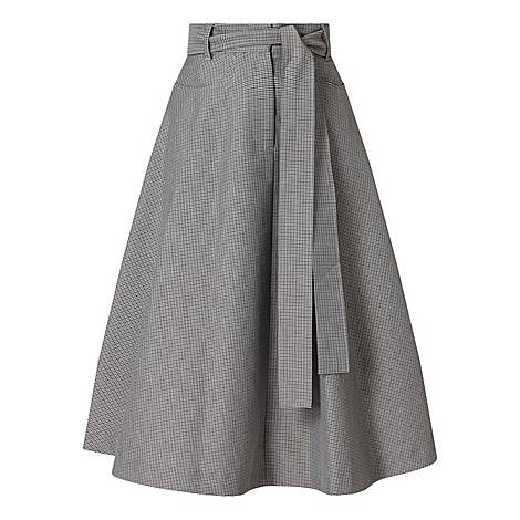 Houndstooth Aline Skirt, ${color}