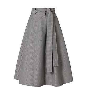 Houndstooth Aline Skirt