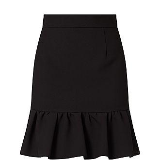 Ruffled Hemline Mini Skirt
