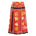 Pleated Print Skirt, ${color}