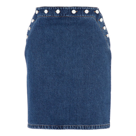 Denim Button Skirt, ${color}