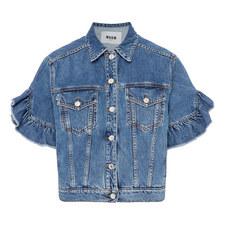 Ruffle Sleeve Jacket