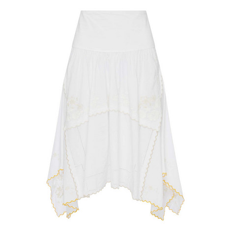 Embroidered Asymmetric Skirt, ${color}