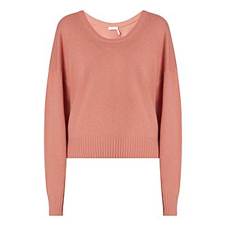 Scooped Neck Sweater