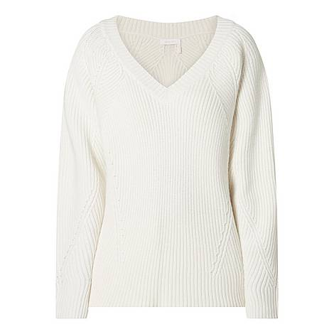 Vee Knit Sweater, ${color}