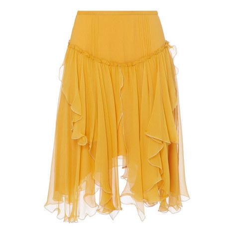 Chiffon Ruffled Skirt, ${color}