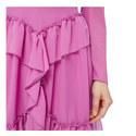 Chiffon Ruffle Embellished Dress, ${color}