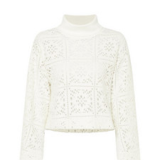 Cropped Cut-Out Sweater