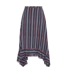 Striped Silk Skirt