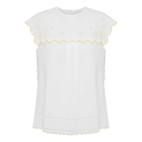 Scalloped Trim Top, ${color}