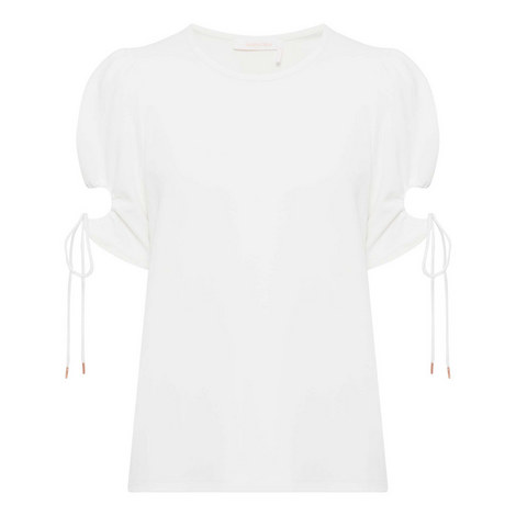 Cut-Out Sleeve Top, ${color}