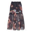 Butterfly Print Skirt, ${color}