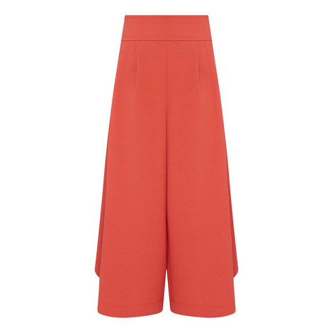 Cropped Culotte Trousers, ${color}