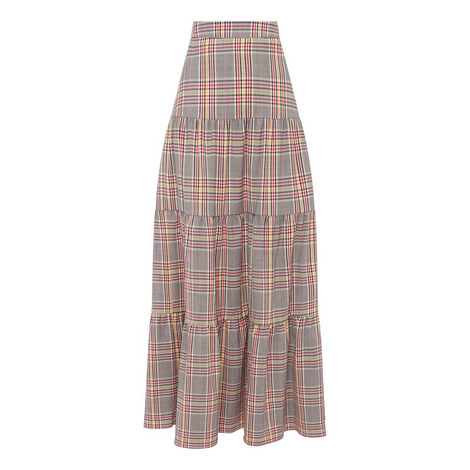 Coquillage Check Skirt, ${color}