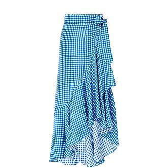 Lagos Gingham Wrap Skirt