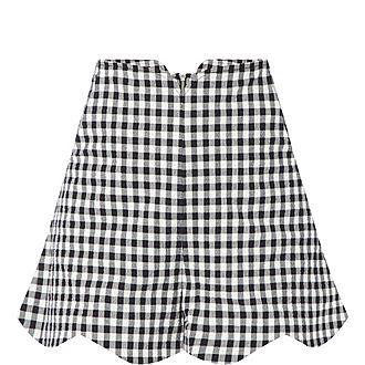 Gingham Peche Shorts