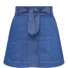 Mini Wallace Denim Skirt