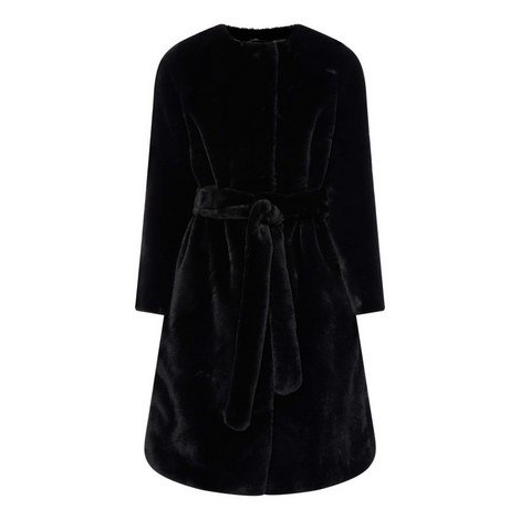 Adina Belted Faux Fur Coat, ${color}