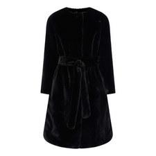 Adina Belted Faux Fur Coat