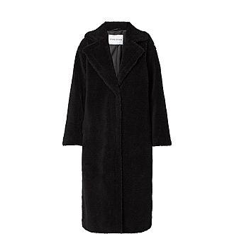 Maria Faux Teddy Fur Coat