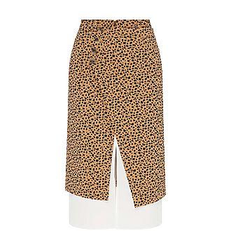 Steffi Leopard Print Skirt