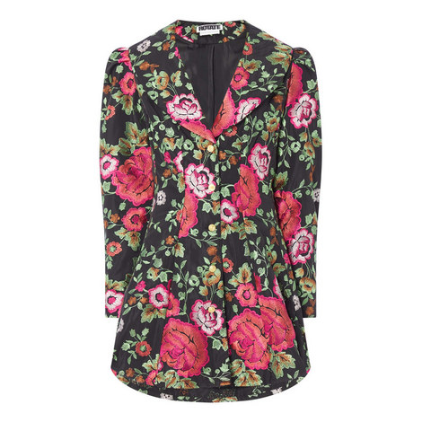 Floral Coat Dress, ${color}