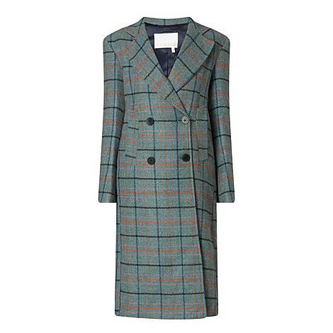 Debbie Heavy Check Longline Coat, ${color}