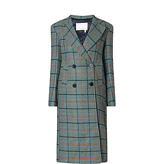 Debbie Heavy Check Longline Coat