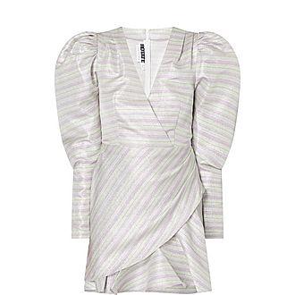 Metallic Stripe Mini Dress