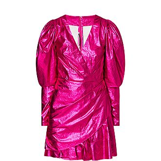 Raspberry Metallic Dress