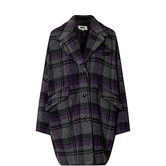 Check Shearling Coat