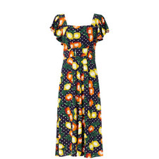 Alora Fruit Print Midi Dress