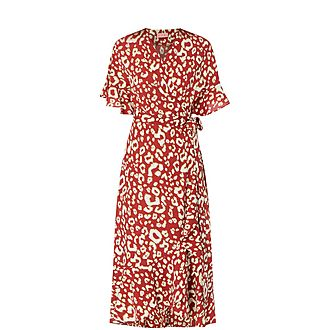 Freya Animal Print Wrap Dress