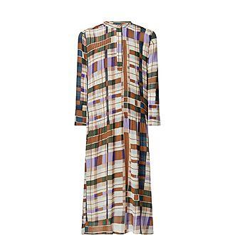 Elm Collarless Shirt Dress