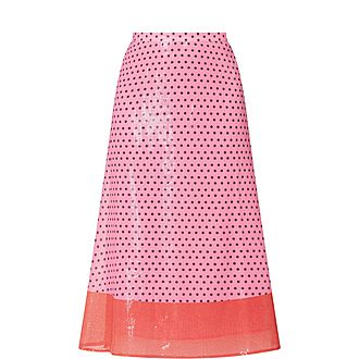 Penelope Polka-Dot Skirt