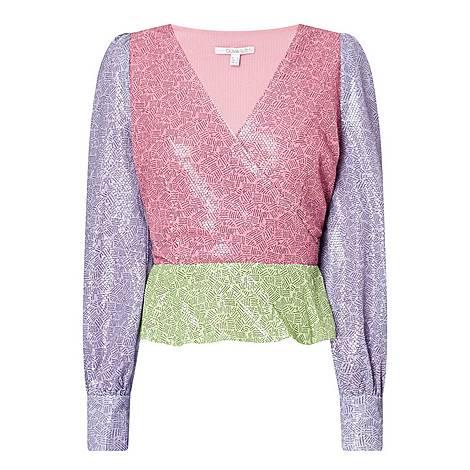 Catie Colour Block Blouse, ${color}