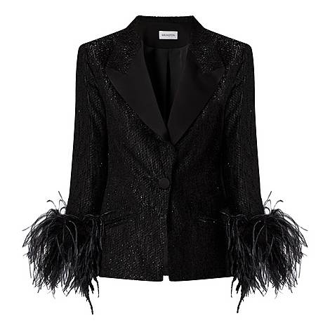 Edie Feather Cuff Jacket, ${color}