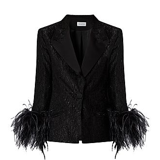 Edie Feather Cuff Jacket