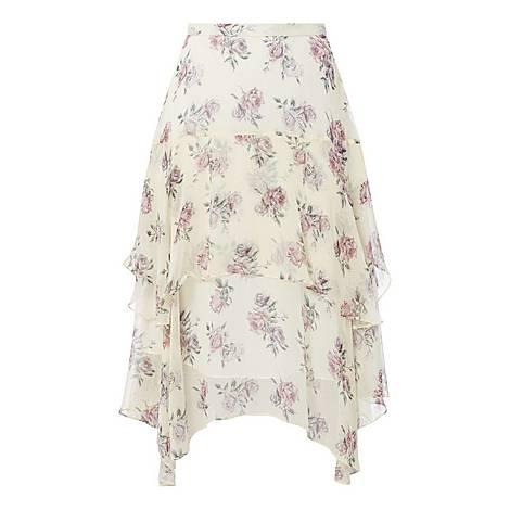 Alex Floral Midi Skirt, ${color}