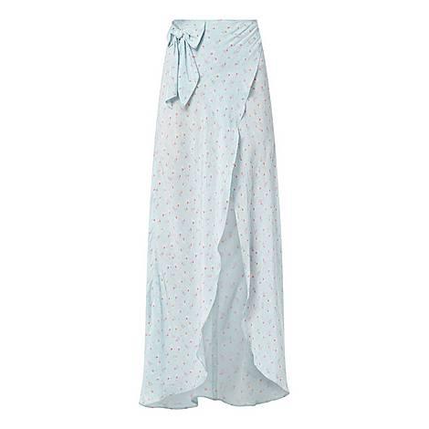 Slit Wrap Skirt, ${color}