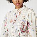 Tegan Floral Silk Top, ${color}