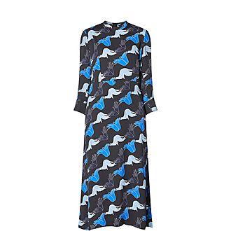 Artist Hand Print Midi Dress