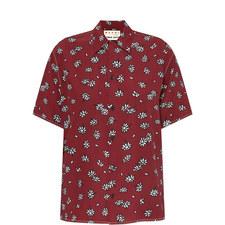 Petal Print Silk Shirt
