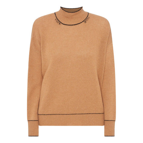 Cashmere High Neck Sweater, ${color}