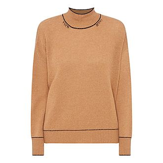 Cashmere High Neck Sweater