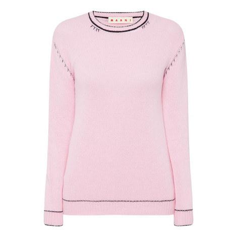 Cash Round Neckline Sweater, ${color}